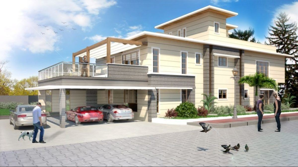 Modern Two-storey House Plan Prestige From Indian Architects K Square