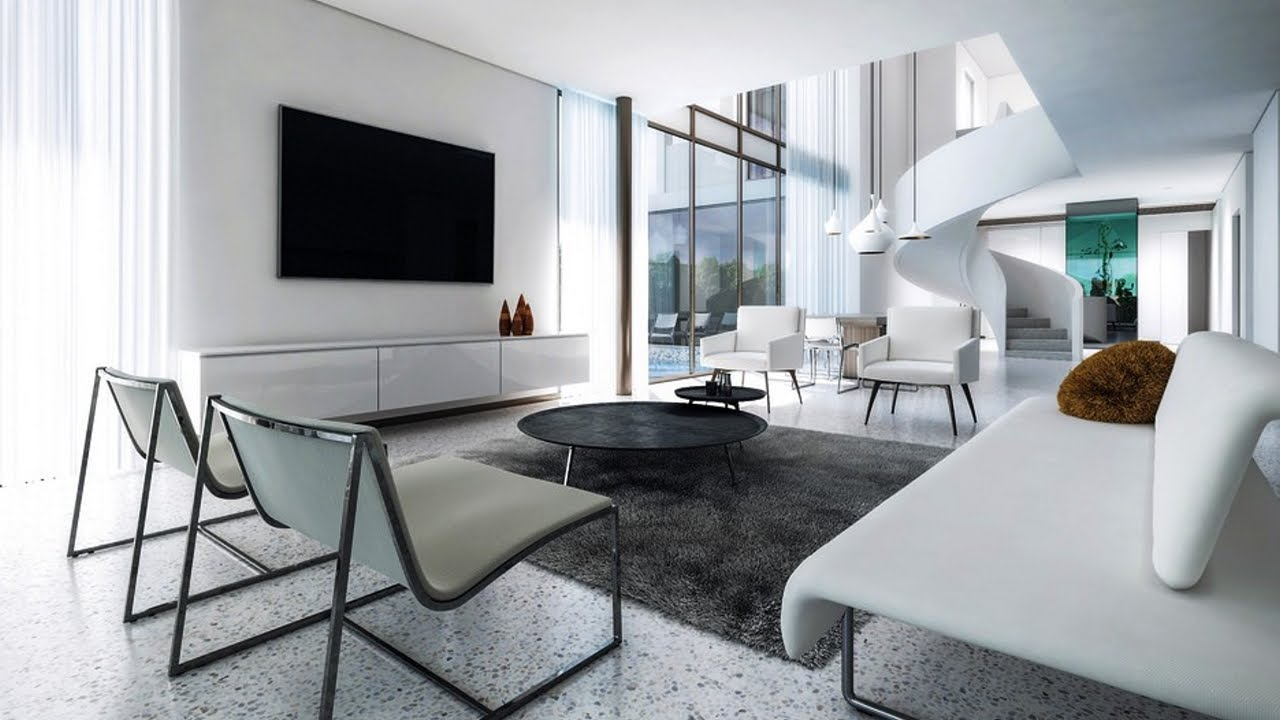 Living room in minimalist style