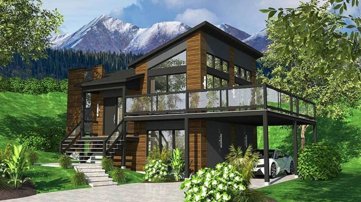 Small 4 Bedroom House Plan With A Walk Out Basement