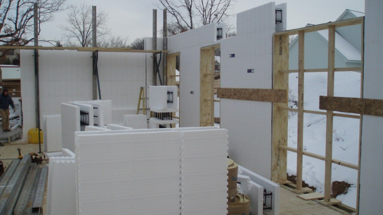 Making window and door openings on insulated concrete formwork