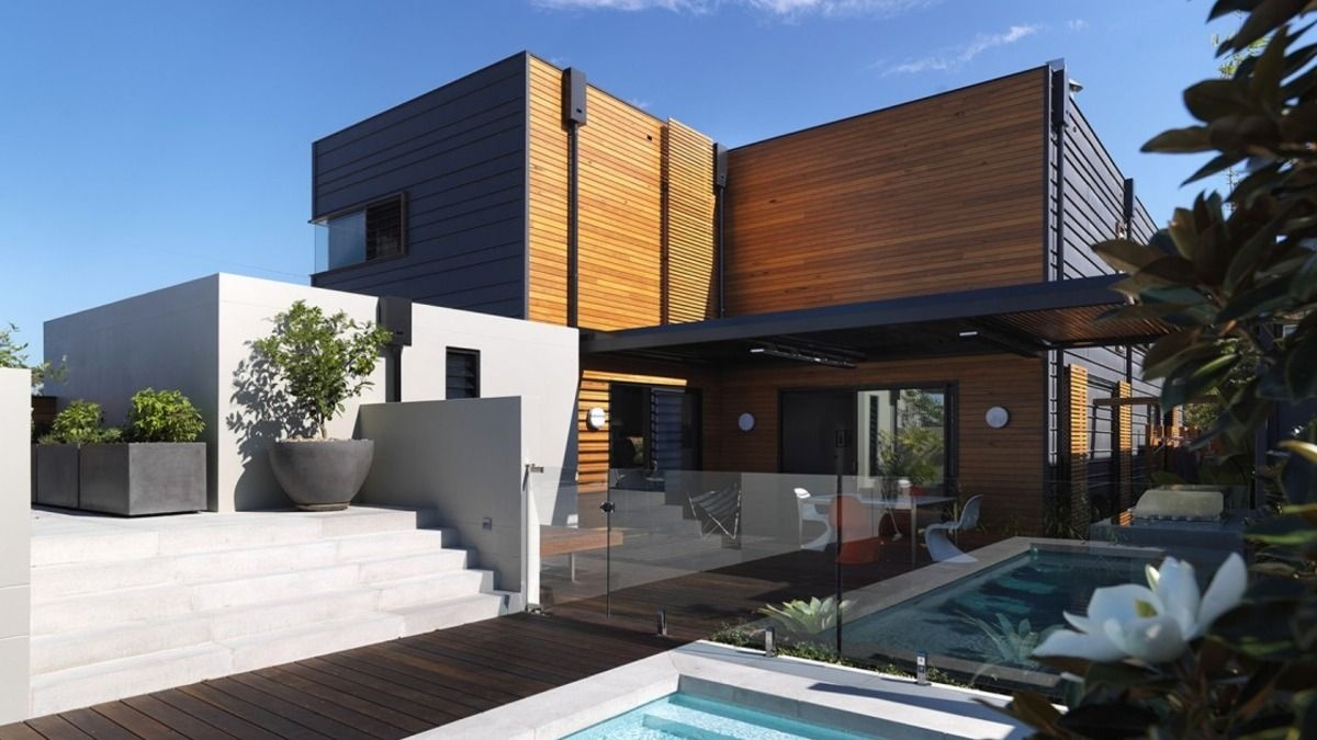 Two Storey Modular Prefab House With A Pool The Clovelly