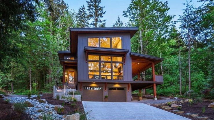 Two-story modern house plans with a garage on under garage homes, detached garage homes house plans, under garage side, barn garage with roof plans, garage addition plans, cool house garage apartment plans, under garage lighting, garage building plans, under garage garage, garage with apartment above plans,